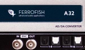 Der Highend-Wandler Ferrofish A32 DANTE ist jetzt lieferbar