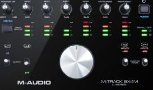 M-Audio M-Track 8x4M: Audio-Interface mit 8 Ein- und 4 Ausgängen