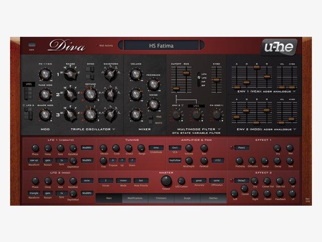u-he Diva: Frischer Synthesizer mit kraftvollem Sound