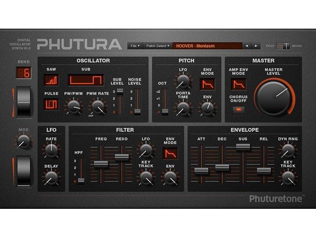 Phutura: Kostenloser Synthesizer ala Alpha Juno