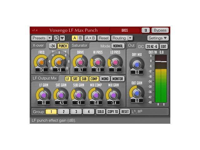 Voxengo LF Max Punch in Version 1.4 vorgestellt