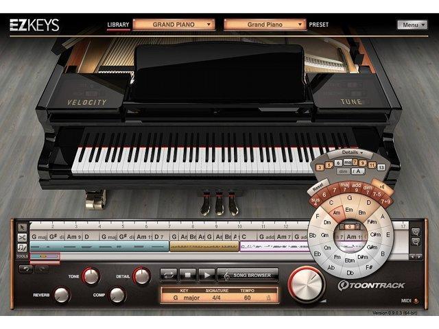 Toontrack stellt Piano-Instrument EZkeys vor
