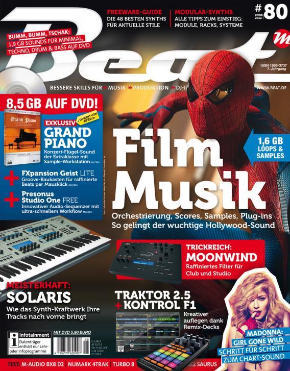 <strong>Mit der aktuellen Ausgabe des Beat-Magazins 07-08|2012 erhalten Sie ein Grand Piano im Wert von 69 Euro</strong>