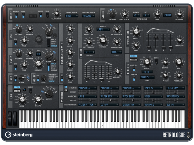Steinberg bringt den Retrologue als VST-Plug-in und AudioUnit