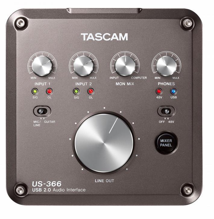 US-322 & US-366 - Neue Interface-Modelle von Tascam