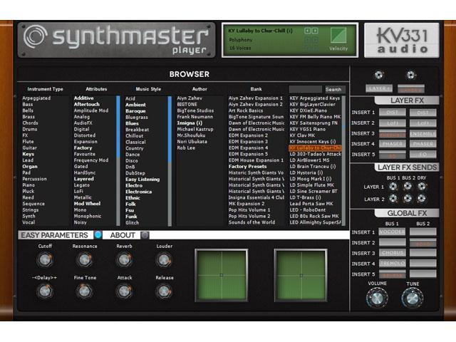 KV331 SynthMaster Player und Player free
