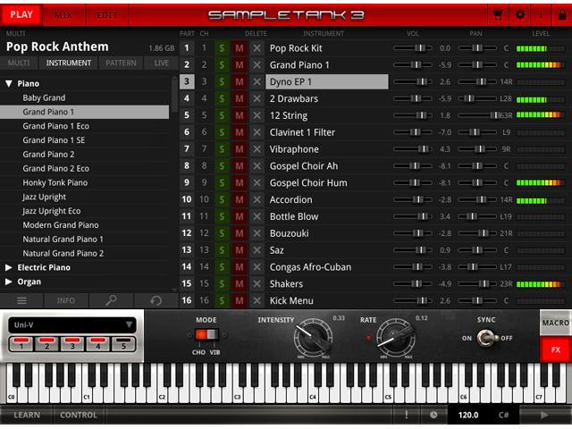 IK Multimedia SampleTank 3 - Sound- & Groove-Workstation