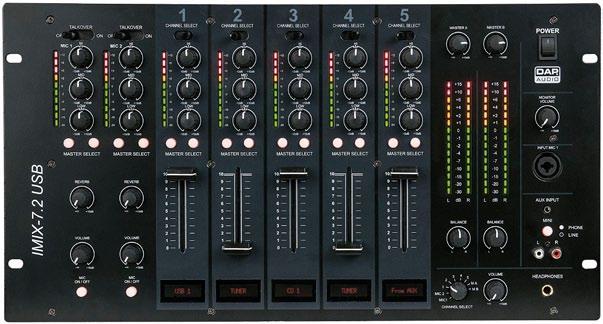 DAP Audio bringt mit dem IMix-7.2USB einen durchdachten und solide verarbeiteten Installationsmixer an den Start, der sich im Test als zuverlässige Schaltzentrale für mittelgroße Setups entpuppt.