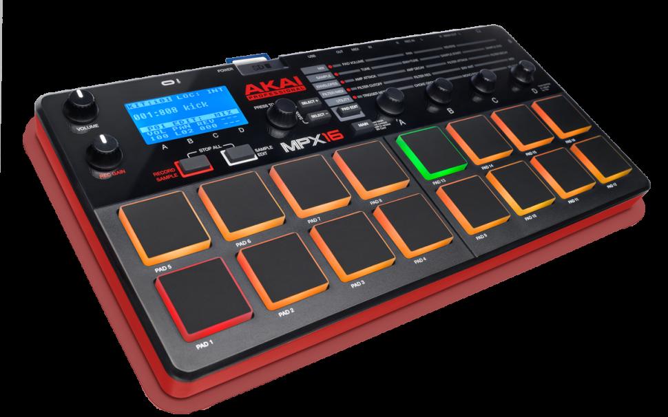 Akai MPX16 - Kompakter Sampler mit 16 Pads