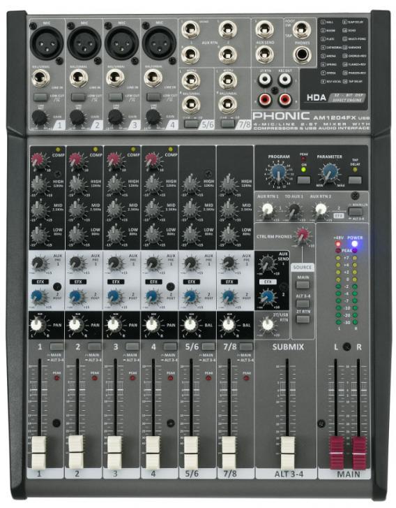 Phonic AM1204FX USB - 6-Kanal Kompaktmixer