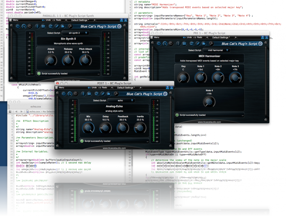 Plug'n Script - Plug-in Editor von Blue Cat Audio