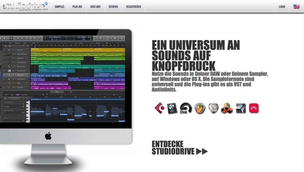 Dank Datenbank navigiert man im Nu durch unzählige Stile und Pakete und kann Soundpacks mit einem Klick im Player vorhören und herunterladen.