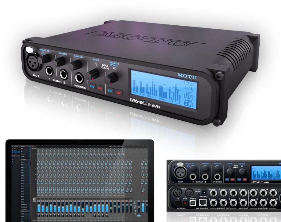 MOTU UltraLite AVB - 18-Kanal Audiointerface