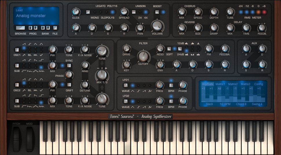 Tone2 Saurus 2 - Synthesizer Plug-in