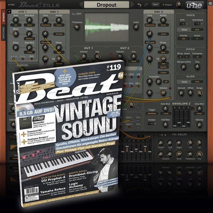 u-he Beatzille gratis auf der Beat #119 Heft-DVD