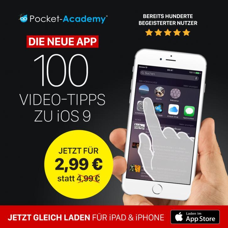 100 Video-Tipps zu iOS 9 als App