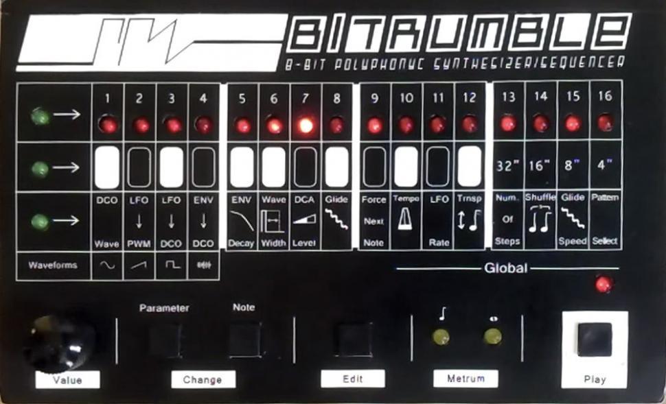 8-Bit-Synthesizer und Sequenzer im Retro-Stil