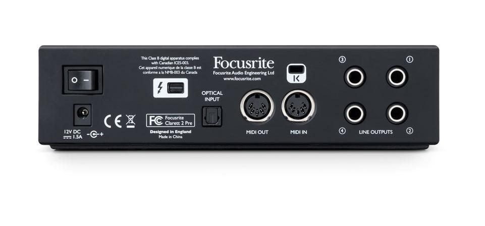 Focusrite Clarett 2Pre ist jetzt erhältlich