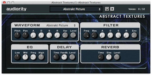 Abstract Textures Plug-in: Ambient-Sounds für Windows und Mac