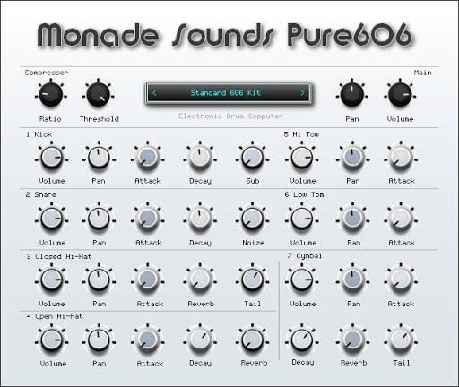 Monade Sounds Pure606 emuliert TR-606