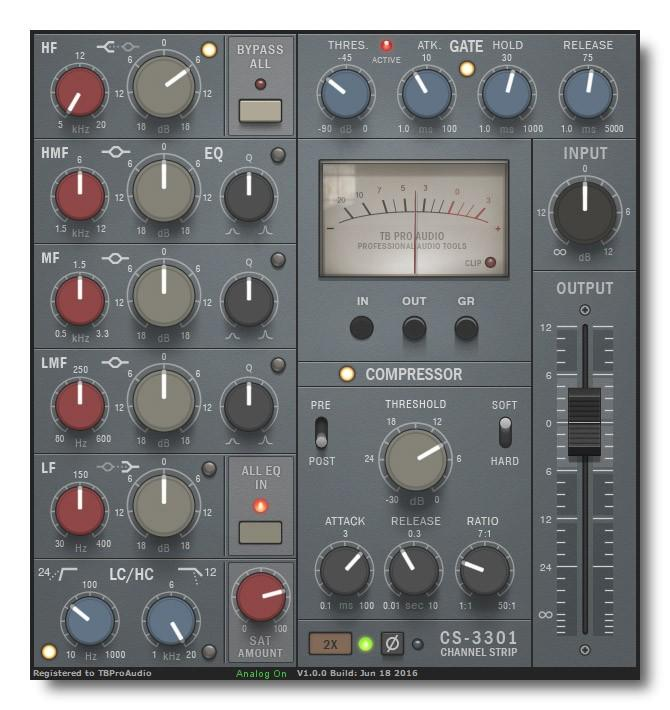 TBProAudio CS-3301 - der virtuelle Kanalzug