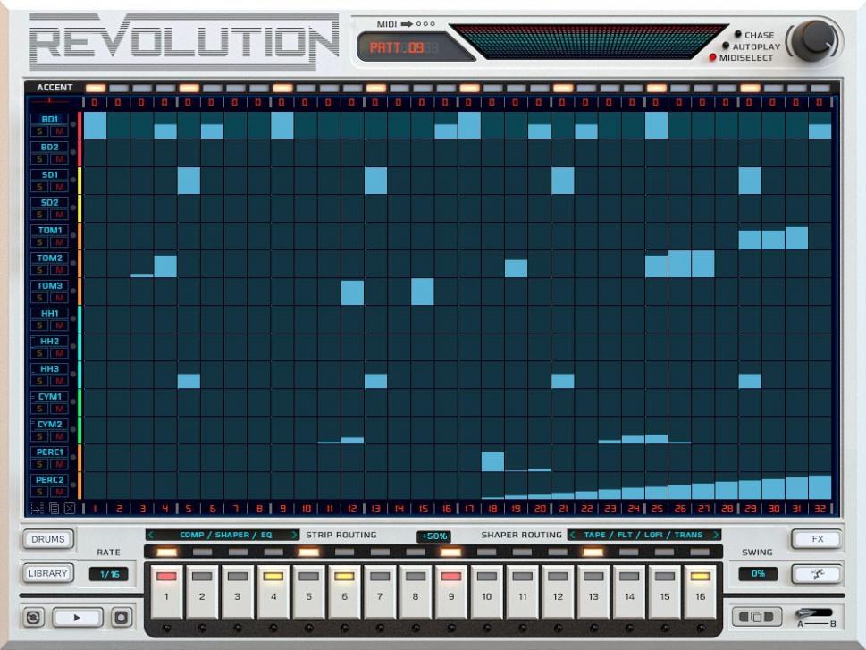 Revolution - Kollektion der Drum-Maschinen für NI Kontakt
