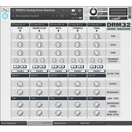 DRM32 Analog Drum Machine für NI Kontakt