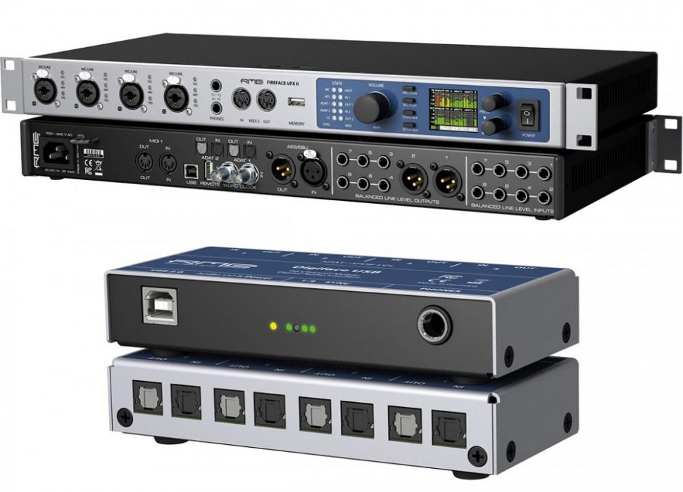 RME Fireface UFX II und Digiface USB