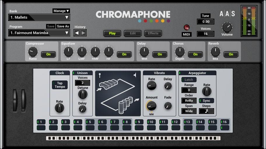 AAS Chromaphone wird Kontakt-freudig