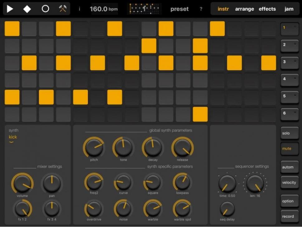 Elastic Drums 2.0 iOS-Drummachine