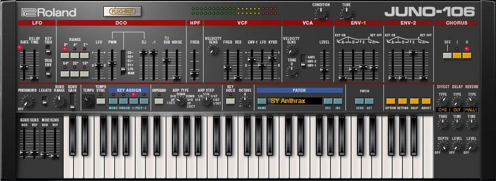 Roland Juno-106 Plug-in