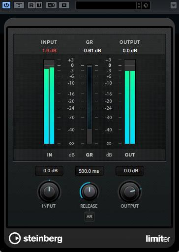 Limiter in Steinberg Cubase Pro 9