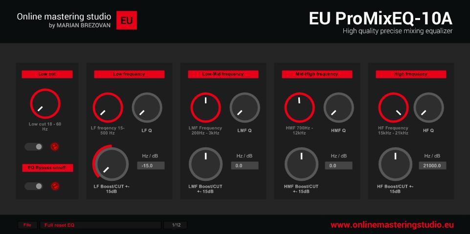 Kostenloser Equalizer: EU ProMixEQ-10A