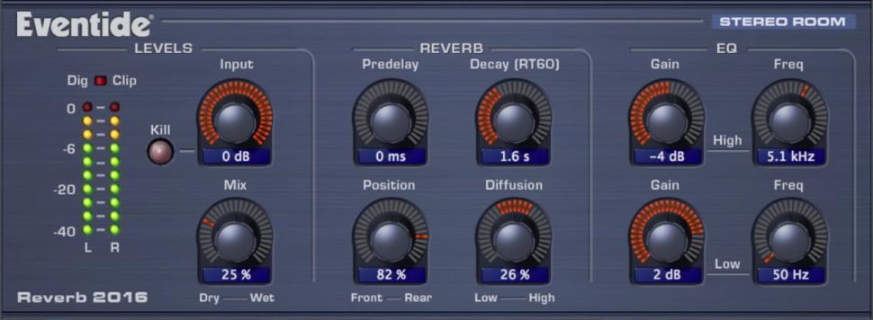 Enthalten in PreSonus Studio Magic: Eventide Stereo Room