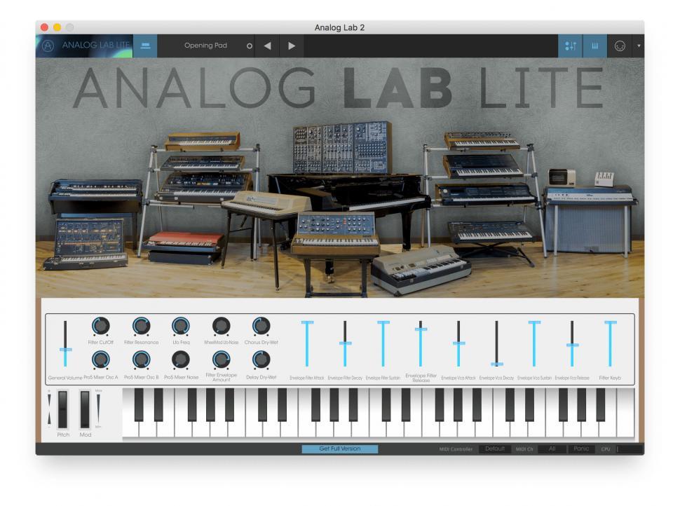 PreSonus Studio Magic: Arturia Analog Lab Lite