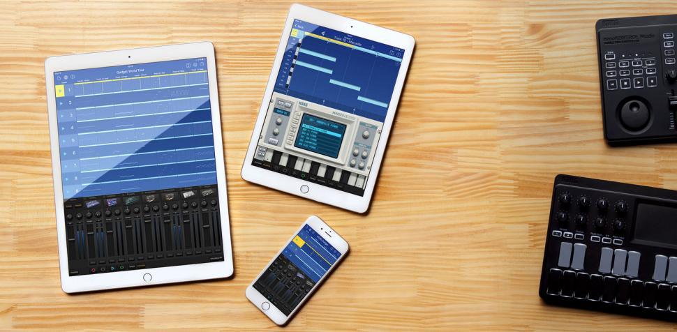 Gadget bietet auf dem iPad 15 verschiedene Klangerzeuger und eine komplette Studio-Produktionsumgebung.