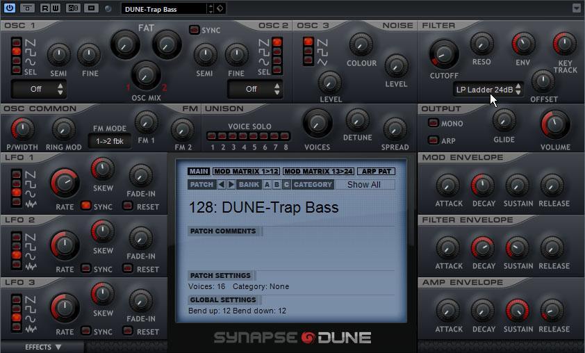 Grundklang für den 808 Trap Bass