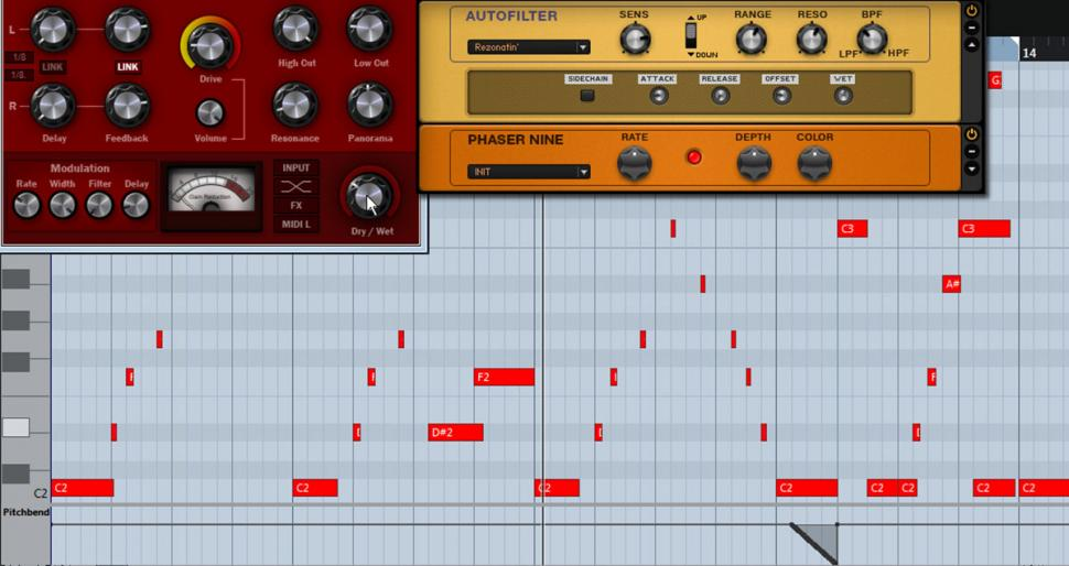 Schritt 3: Bassline + Effekte