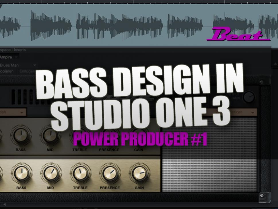 Video-Tutorial: Bass Design in Studio One 3