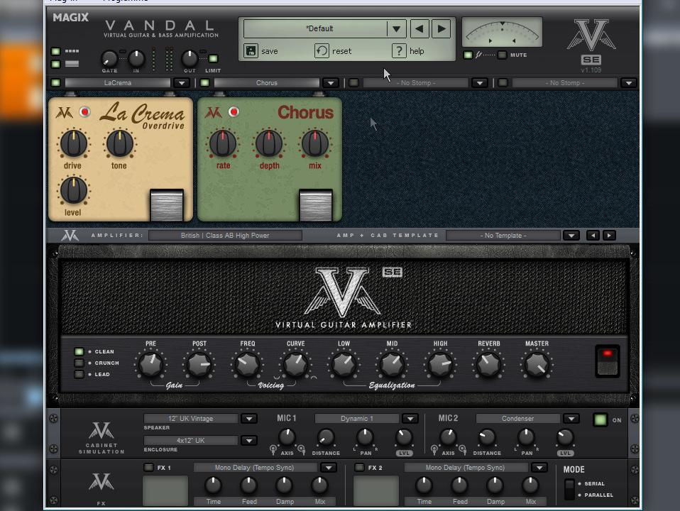 MAGIX Vandal Gitarren-Verstärker-Simulation