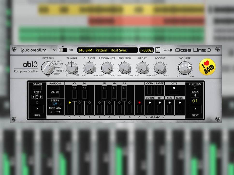 Die ABL3 bietet authentischen Acid-Sound bei extrem niedriger CPU-Belastung.