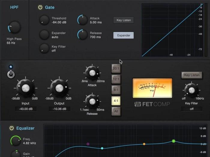 Der neue Fat Channel XT in der DAW PreSonus Studio One 3.5