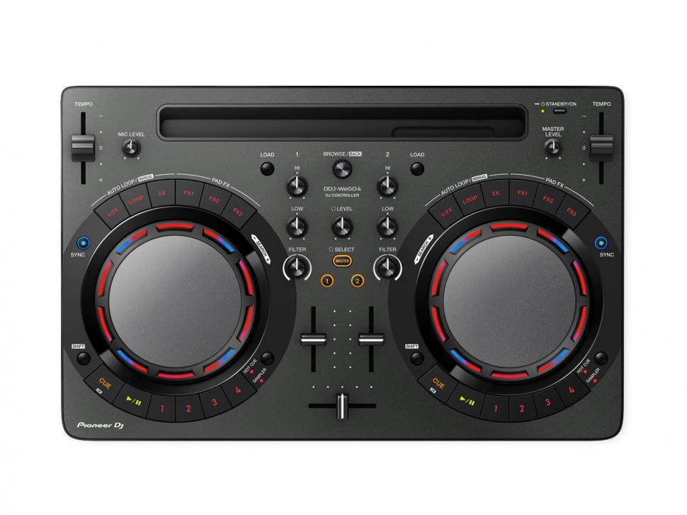 Der Pioneer DJ WeGO4 erlaubt Einsteigern ein kreatives Zweideck-Mixing.