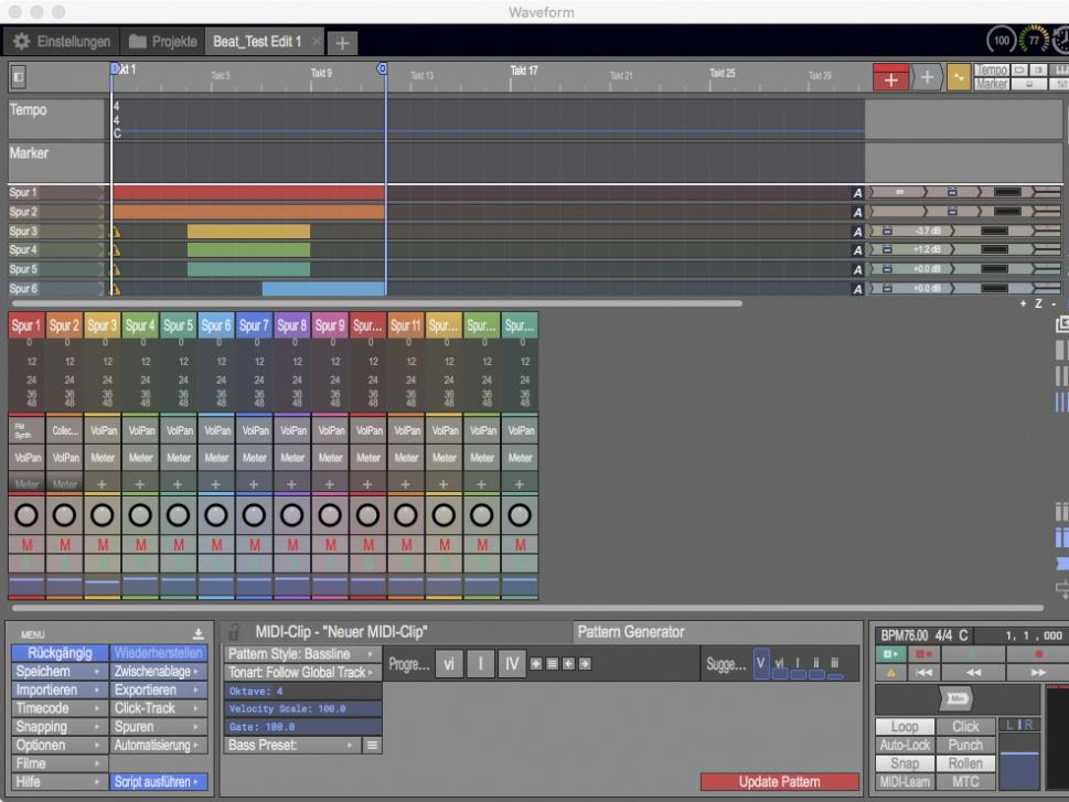 Der neue Mixer ist eingebunden in ein User-Interface, das selbst bei voller Auslastung übersichtlich bleibt.
