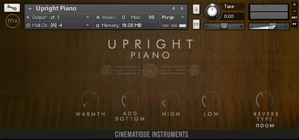 Cinematique Instruments Charakter Piano Collection