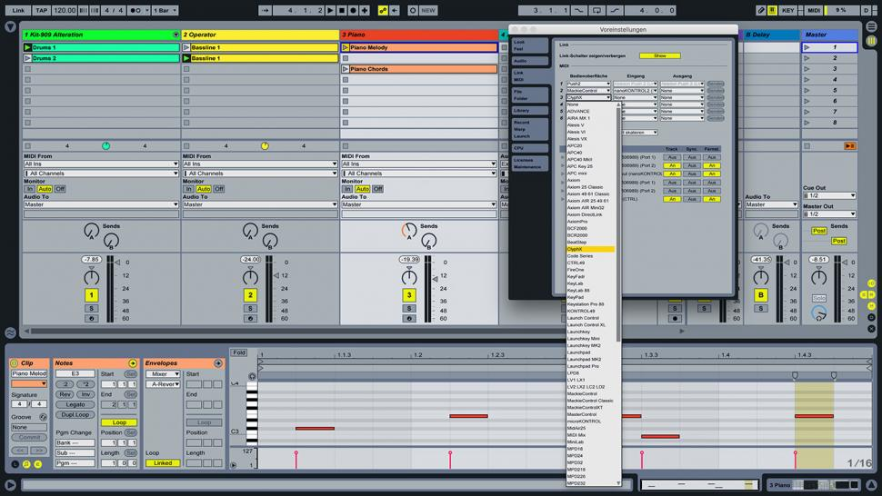 Schritt 2: MIDI-Voreinstellungen