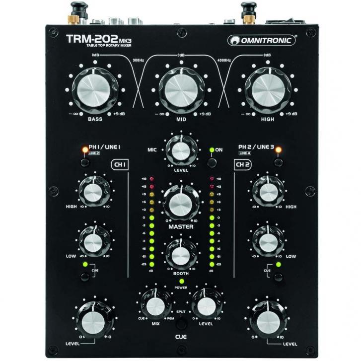 Rotary DJ Mixer Omnitronic TRM-202 MK3 im Check