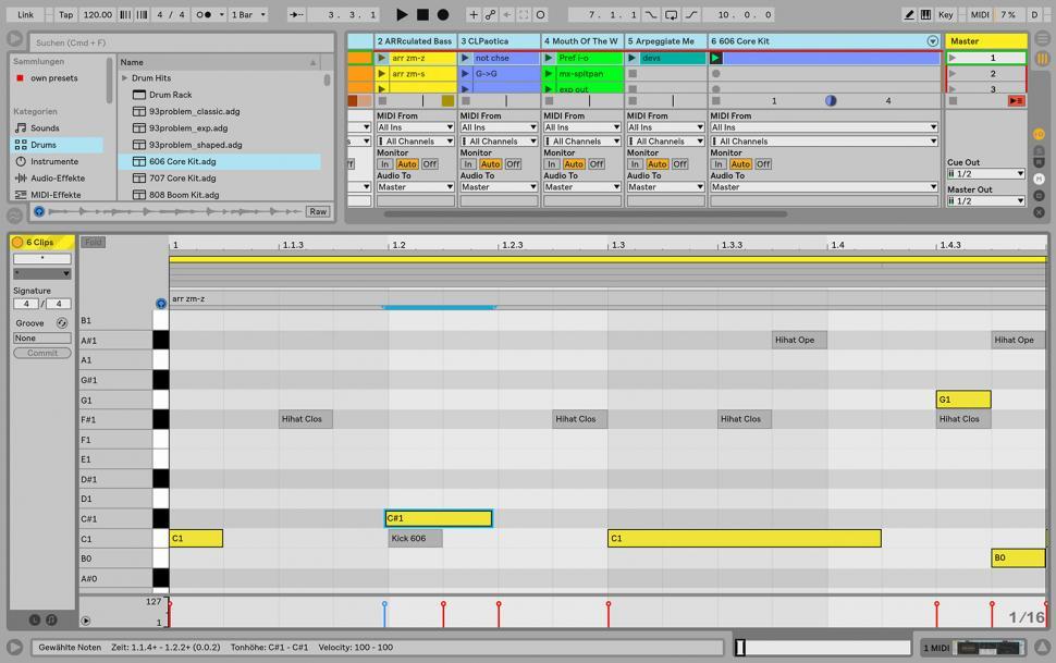 Schritt 3: MIDI-Notes editieren