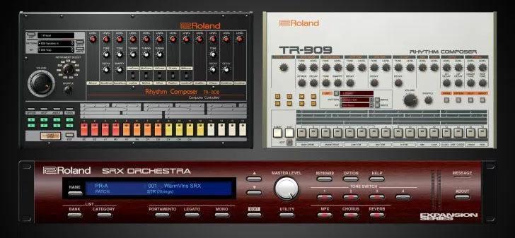 oland TR-808, TR-909 und SRX Orchestra
