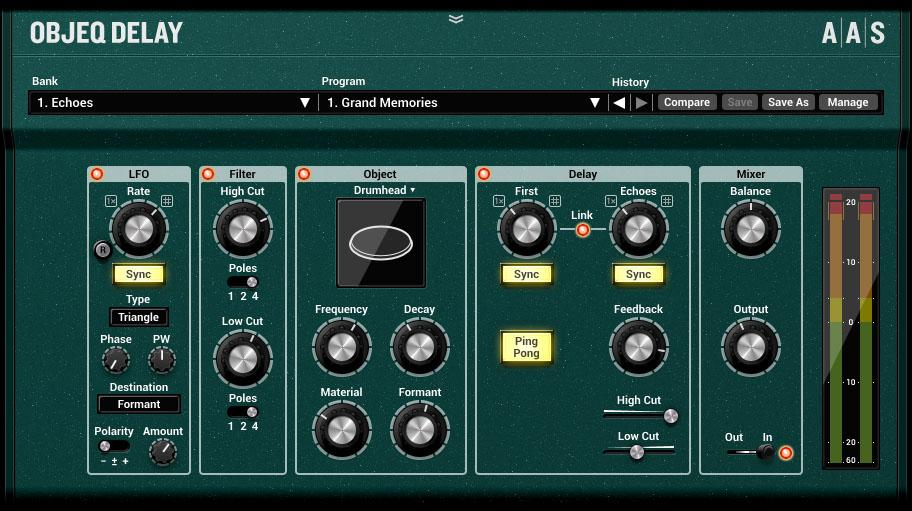 Applied Acoustic Systems Objeq Delay